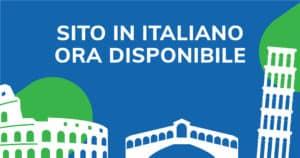 Il Sito Web e' ora disponibile in lingua italiana